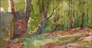 MARCUS-ADAMS-Watercolour-Painting-BURNHAM-BEECHES-LANDSCAPE-c1930-IMPRESSIONIST