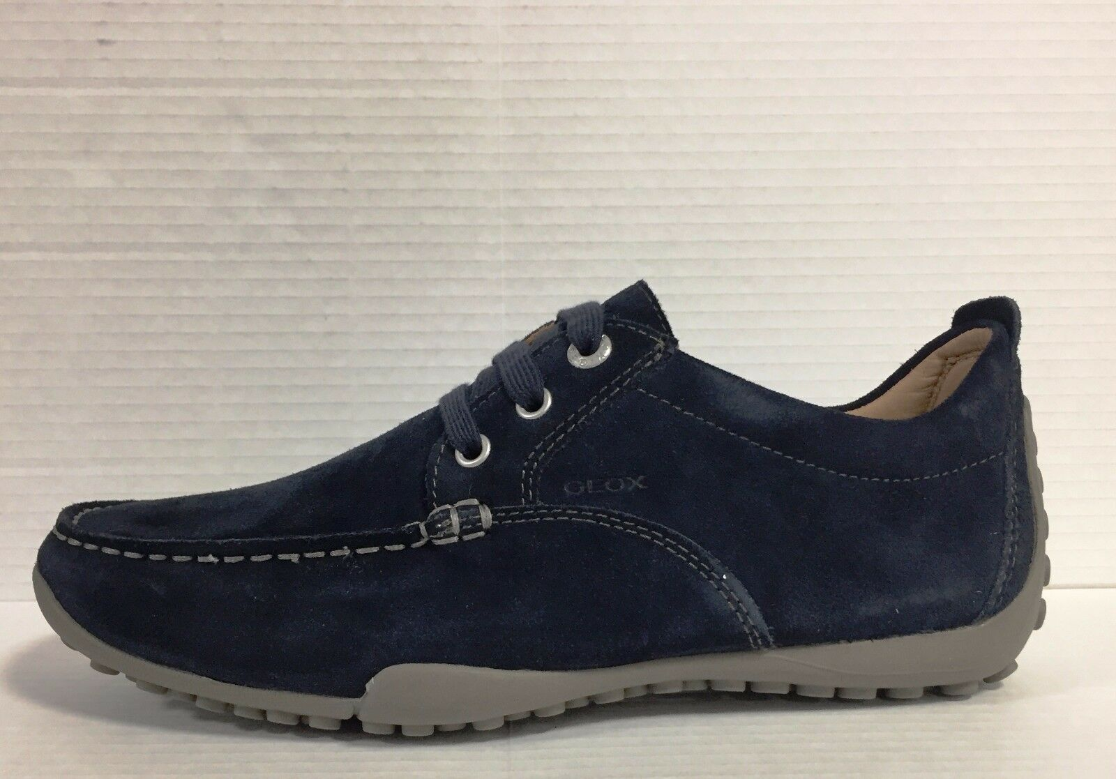 GEOX chaussures hommes CON LACCI IN CAMOSCIO NAVY LINEA SNAKE ART. U2202N