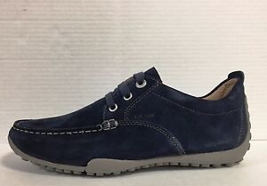 729d3e5dd000b GEOX MEN S SHOES WITH LACES SUEDE NAVY LINEA SNAKE ART. U2202N