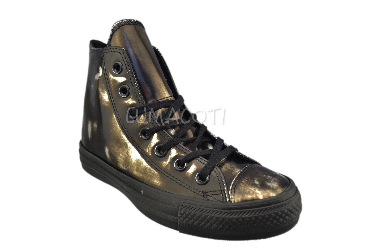 Converse Womens Womens Womens Chuck Taylor All Star Brush Off Leather High Top Black 553301C 925125