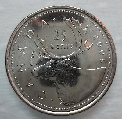 2009 CANADA 25¢ CARIBOU BRILLIANT UNCIRCULATED QUARTER