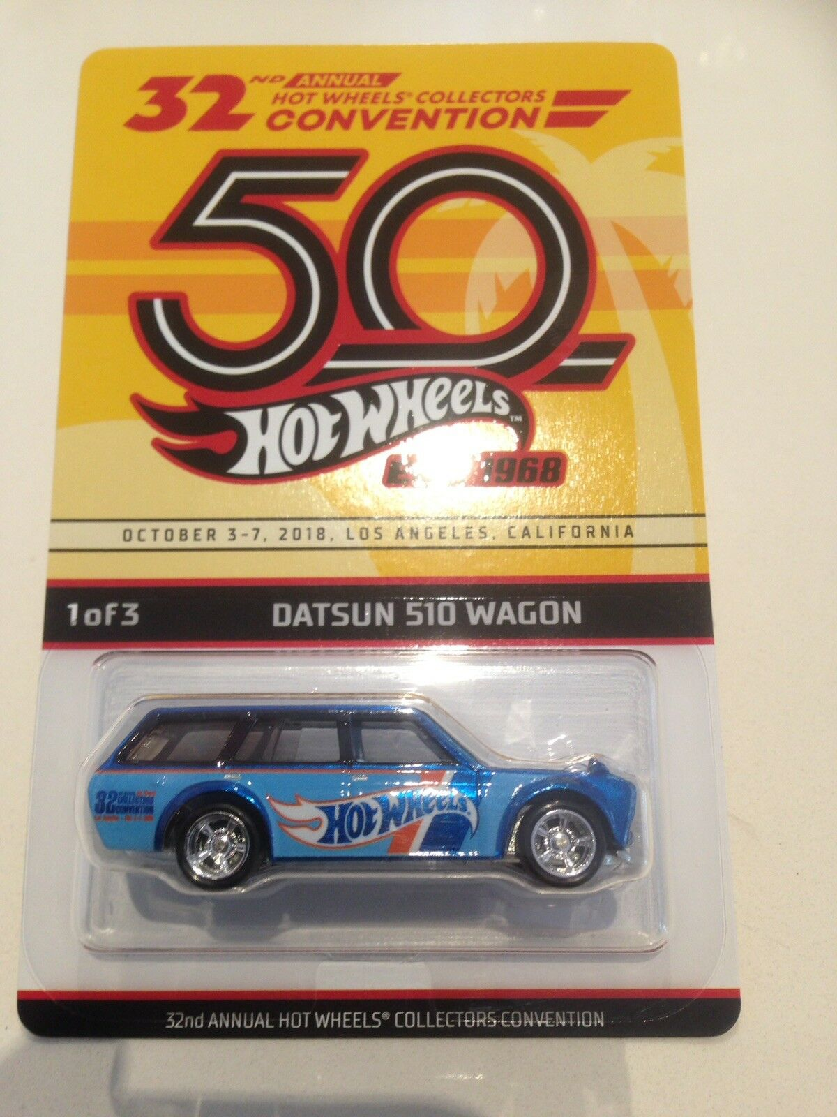 2018 HOTWHEELS LA 32nd CONVENTION '71 DATSUN bleuBIRD 510 WAGON - BRAND NEW