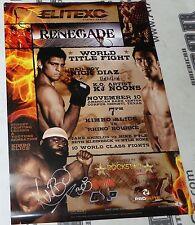 Kimbo Slice Signed 2007 EliteXC Fight Poster BAS Beckett COA MMA Debut UFC Auto