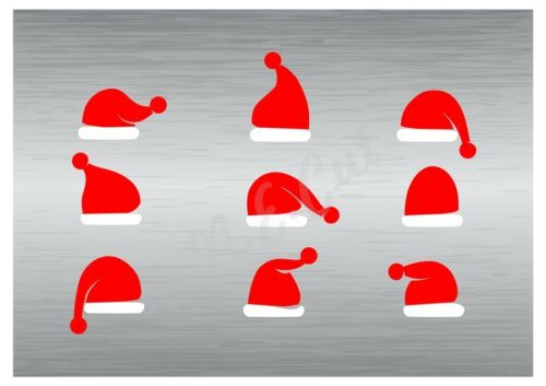 Christmas Hats stencil A5 to A0 14cm to 1.2 meters or bigger CMAS104