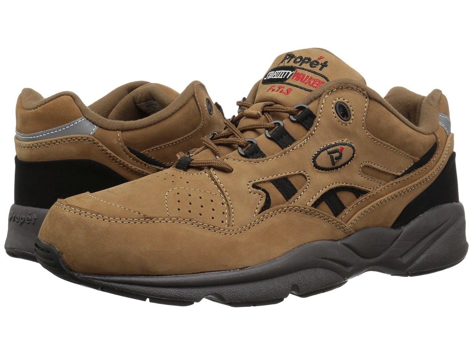 Nuevo Para hombres Propet estabilidad Walker Zapatos para Caminar Cuero Nobuck Marrón Chocolate