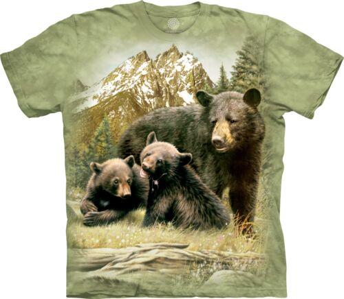 La montagne unisexe enfant Black Bear Family Animal T Shirt
