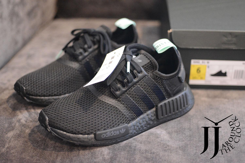 New Adidas NMD AQ1105 R1 Women Black Out Boost AQ1105 NMD 6 US 15a226