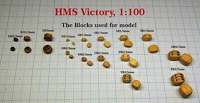 Heller HMS Victory - 742pcs CNC wood blocks for model, 1:100
