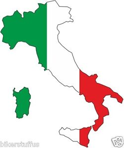 ITALY SILHOUETTE BUMPER DECAL MAP FLAG TOOL BOX STICKER LAPTOP STICKER LAPTOP