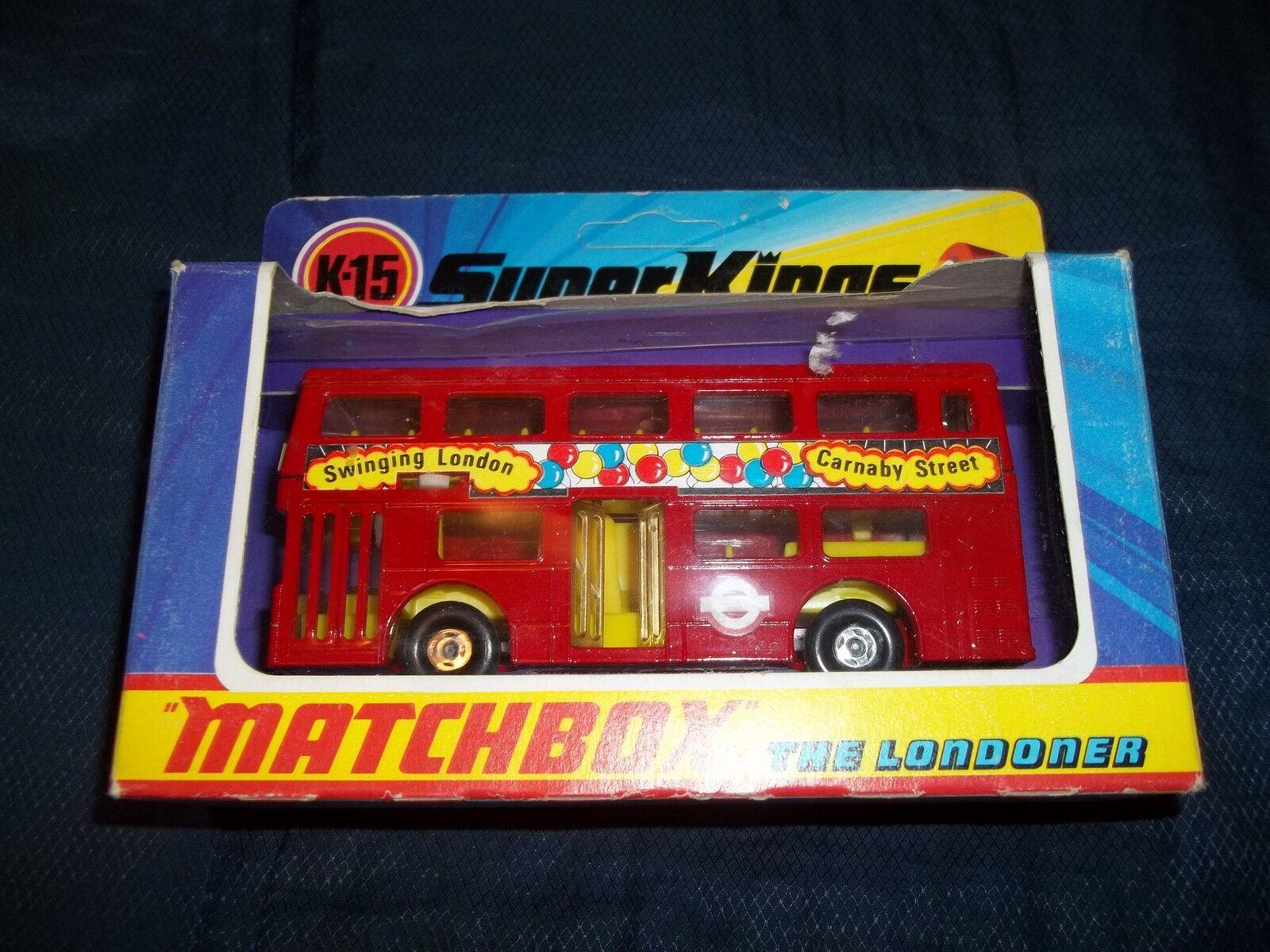 1973 Matchbox Super Kings el londinense Menta en caja