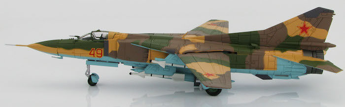 1 72 MIG-23MS, rojo 49, 4477th Test and Evaluation Sqn., USAF, 1980s -  HA5303
