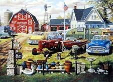 NEIGHBORLY HANDS by Ken Zylla John Deere Tractor Barn 11x15 FRAMED PRINT PICTURE