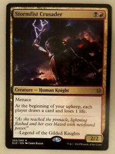 MTG Rare Throne of Eldraine Stormfist Crusader x4 NM