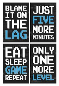 11x17 Inches Gamer Wall Art Video Game Artwork Do Not Disturb Gaming Poster