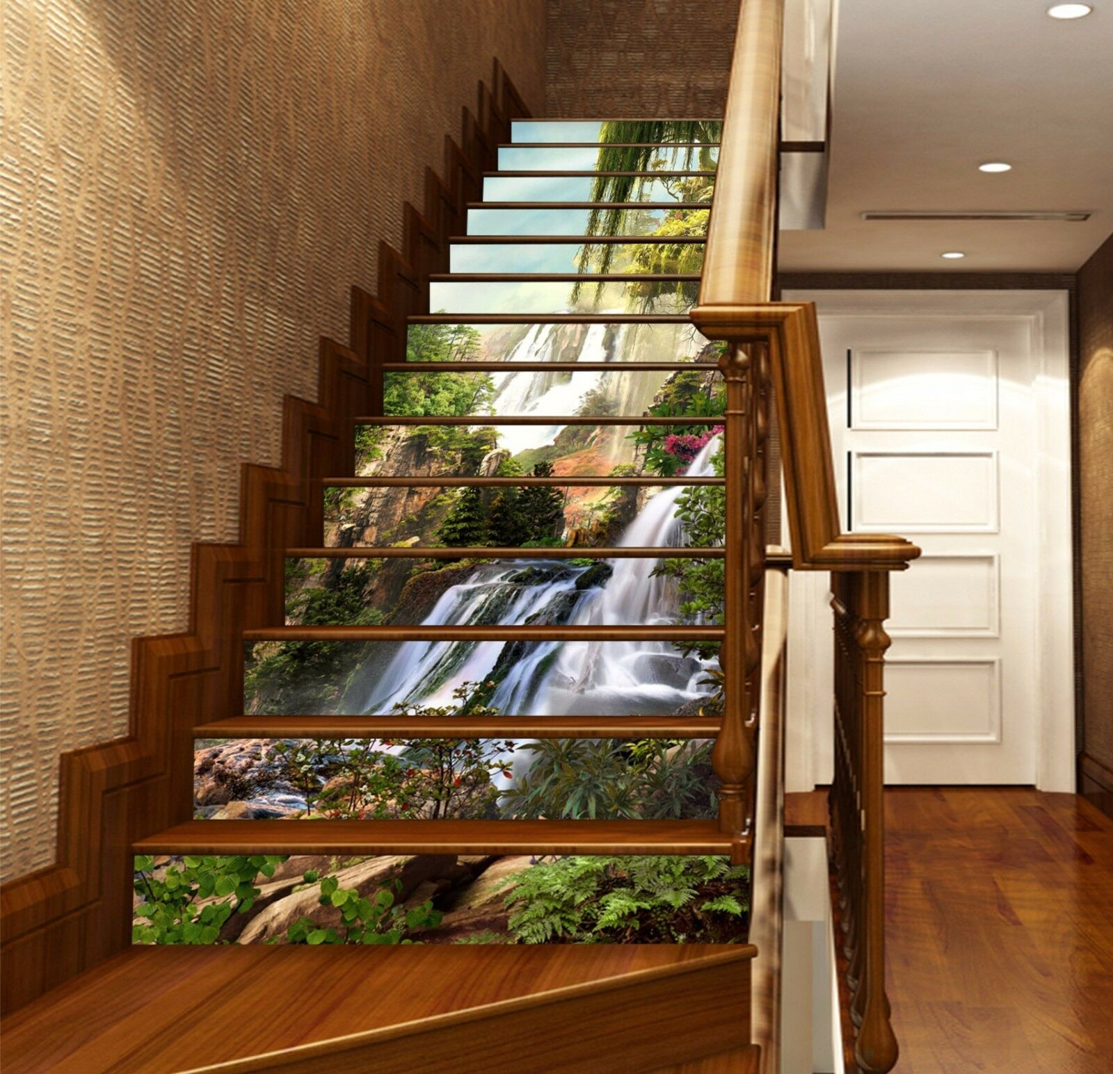 3D Nature Scenery Stairs Risers Decoration Photo Mural Vinyl Decal Wallpaper US