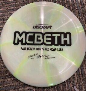 RARE-DISCRAFT-ELITE-Z-SWIRL-PAUL-MCBETH-LUNA-2020-TOUR-SERIES-173-4-GREEN-BLACK