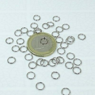 550 Anillas Abiertas 5mm T122 Baño de Plata Open Jump Ring Plated Argento Anello