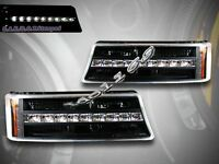 03-06 Chevy Silverado / 03-05 Avalanche Black Led Bumper Lights G2