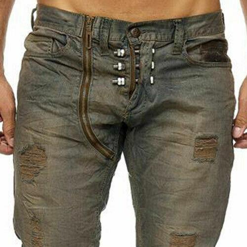 Kingz SPIKE Herren Jeans Denim Straight Cut Alle Gr Neu