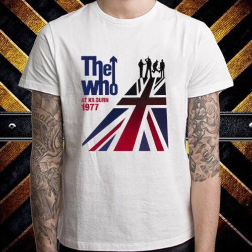 THE WHO At Kilburn 1977 Rock Band Homme T-shirt blanc taille S à 3XL