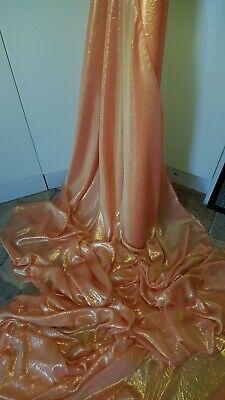 """5M  mint //gold shimmer Chiffon soft dress chiffon58/"""" WIDE"""