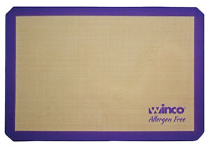 Square 16-3//8 by 24-1//2-Inch Winco USA Winco SBS-24 Silicone Baking Mat