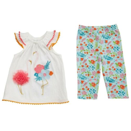 Mud Pie E8 Summer Baby Girl Flamingo Tunic /& Legging Set 1112386 Choose Size