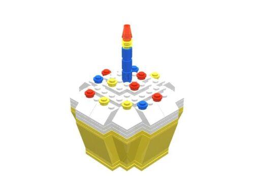 Yellow Birthday Celebration Cupcake gift box Lego Brick