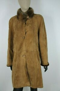 SHEARLING-MONTONE-SHEEPSKIN-Cappotto-Giubbotto-Jacket-Giacca-Tg-44-Woman-Donna-C