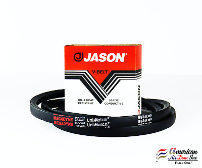 Natural Rubber//SBR//Polyester A//4L Section 11//32 Thick 65 Outside Length Jason Industrial A63 4L650 V-Belt 1//2 Top Width