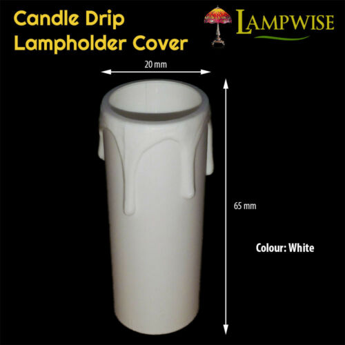Plastic Candle Drip Cover Sleeve Multiple Sizes /& Colours
