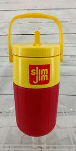 Vintage Coleman Slim Jim Beef Stick Thermos Cooler With