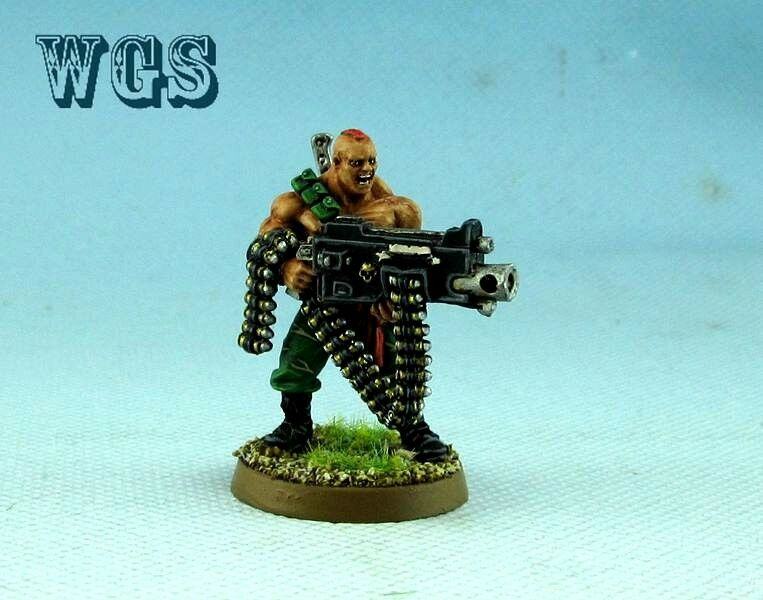 25mm  Warhammer 40K WGS painted Imperial Guard Gunnery Sergeant Harker IG003  negozio online