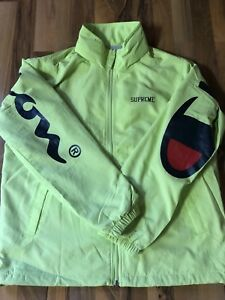 SUPREME-X-CHAMPION-Track-Jacket-Lime-M