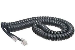 Details about Cisco 12' Ft Foot Exact Gray 7900 IP Series Phone Handset  Coil Curly Cord Cable