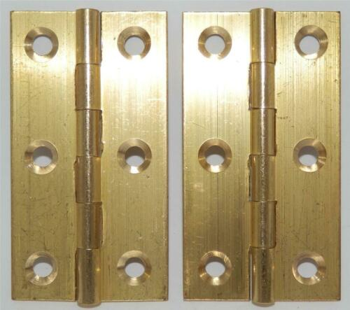 """PAIR of SOLID BRASS BUTT HINGES 2.5/"""" or 64mm INCLUDES SCREWS"""