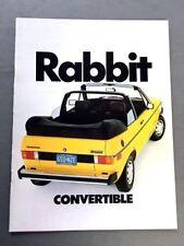 1979 VW Rabbit Original Sales Brochure Factory Dealer 79 Volkswagen
