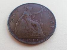 George V One Penny 1919 KN Kings Norton Mint Nice Grade (2766B)