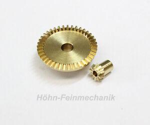 Kegelzahnrad-aus-Messing-Modul-0-5-10-40-Zaehne-1-Paar