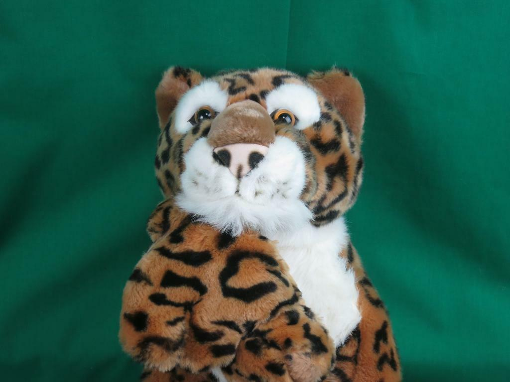BIG PEEPER PALS LEOPARD MOMMY HOLDING BABY LIFELIKE REALISTIC PLUSH STUFFED
