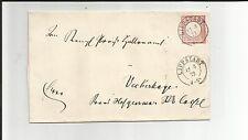 Preussen V / LIPPSTADT 12.3.72, 2 K2 auf Pracht-Brief m. DR 4 n. Veckerhagen