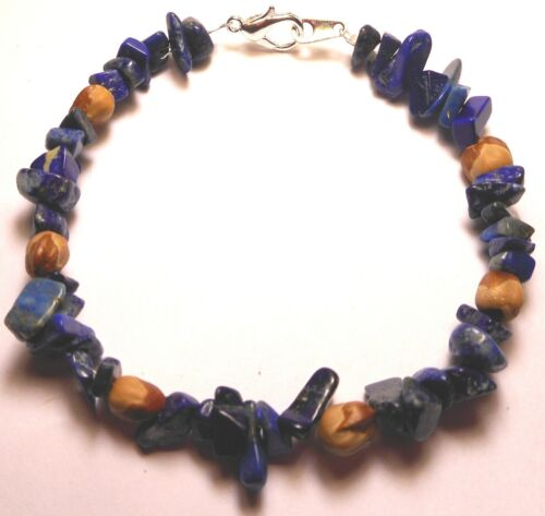 American Indian Navajo Ghost Cedar Beads Juniper Berry & Blue Lapis Bracelet