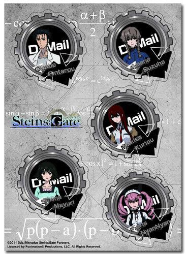 **Legit** Steins Gate Rintaro Kurisu Mayuri Group Authentic Sticker Set #55683