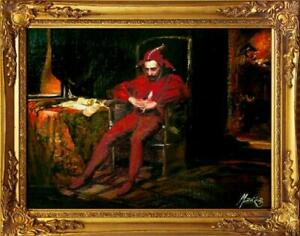 Painting-Oil-Picture-Frame-Baroque-Jan-Matejko-Sta-czyk-G01583