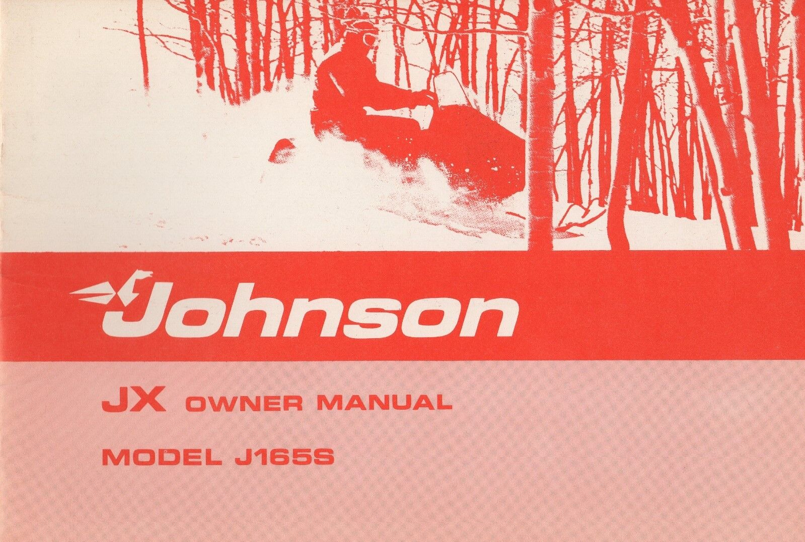 1975 JOHNSON SNOWMOBILE JX 50HP J165S  SNOWMOBILE OWNERS MANUAL 263909 (458)