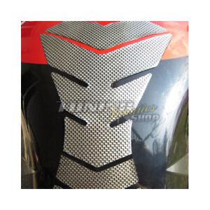 1x 3d Aspect Carbone Tapis Réservoir Protection De Pour Moto V1