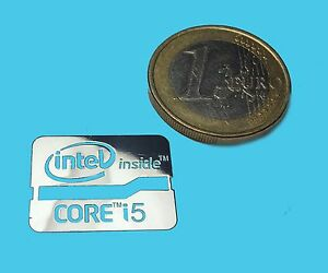 INTEL-CORE-i5-METALISSED-CHROME-EFFECT-STICKER-LOGO-AUFKLEBER-21x16mm-535