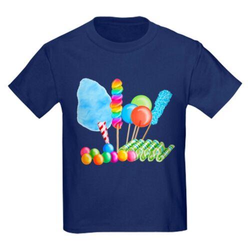 CafePress Candy Circus Boy T Shirt Kids Cotton T-shirt 1893968902