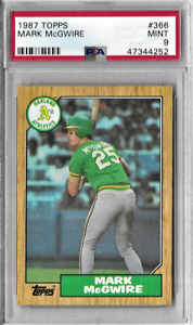 Mark-McGwire-Original-1987-Topps-Rookie-Card-PSA-Graded-Mint-9