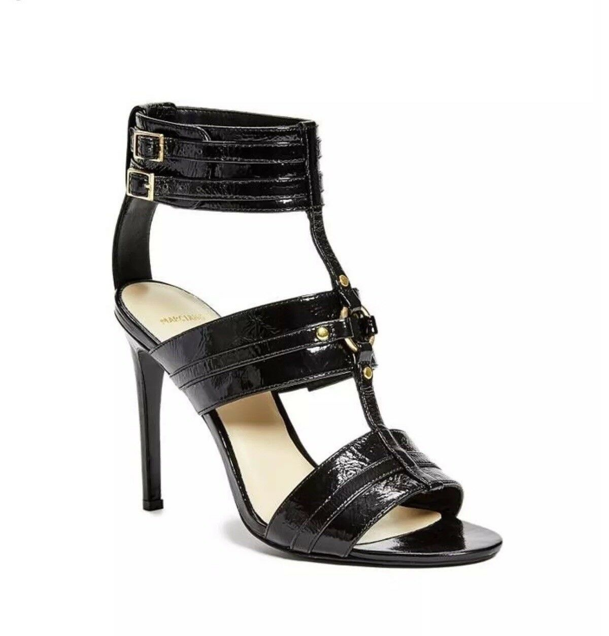 Guess By Marciano Women's Lexa Heels Black Leather Size 9